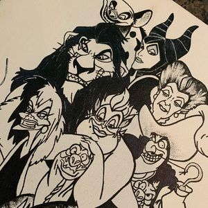Custom ordered Disney Villain Artwork